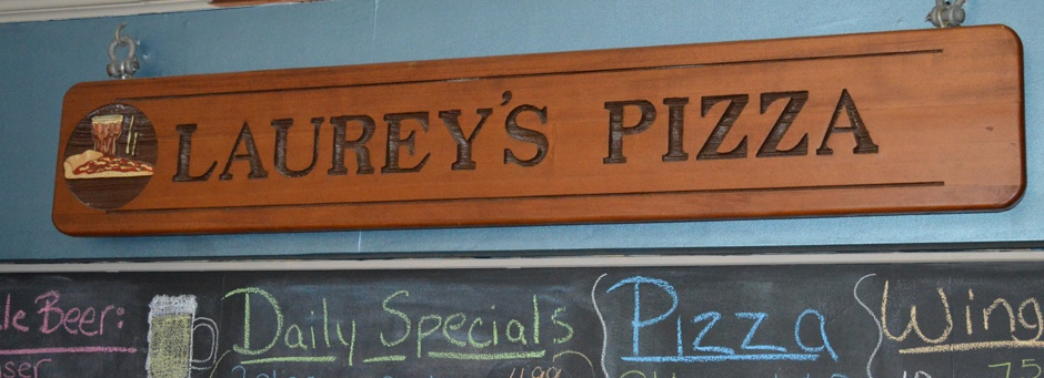 Laurey's pizza sign